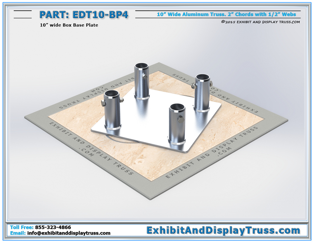 PART: EDT10-BP4 / 10″ Wide Box Base Plate