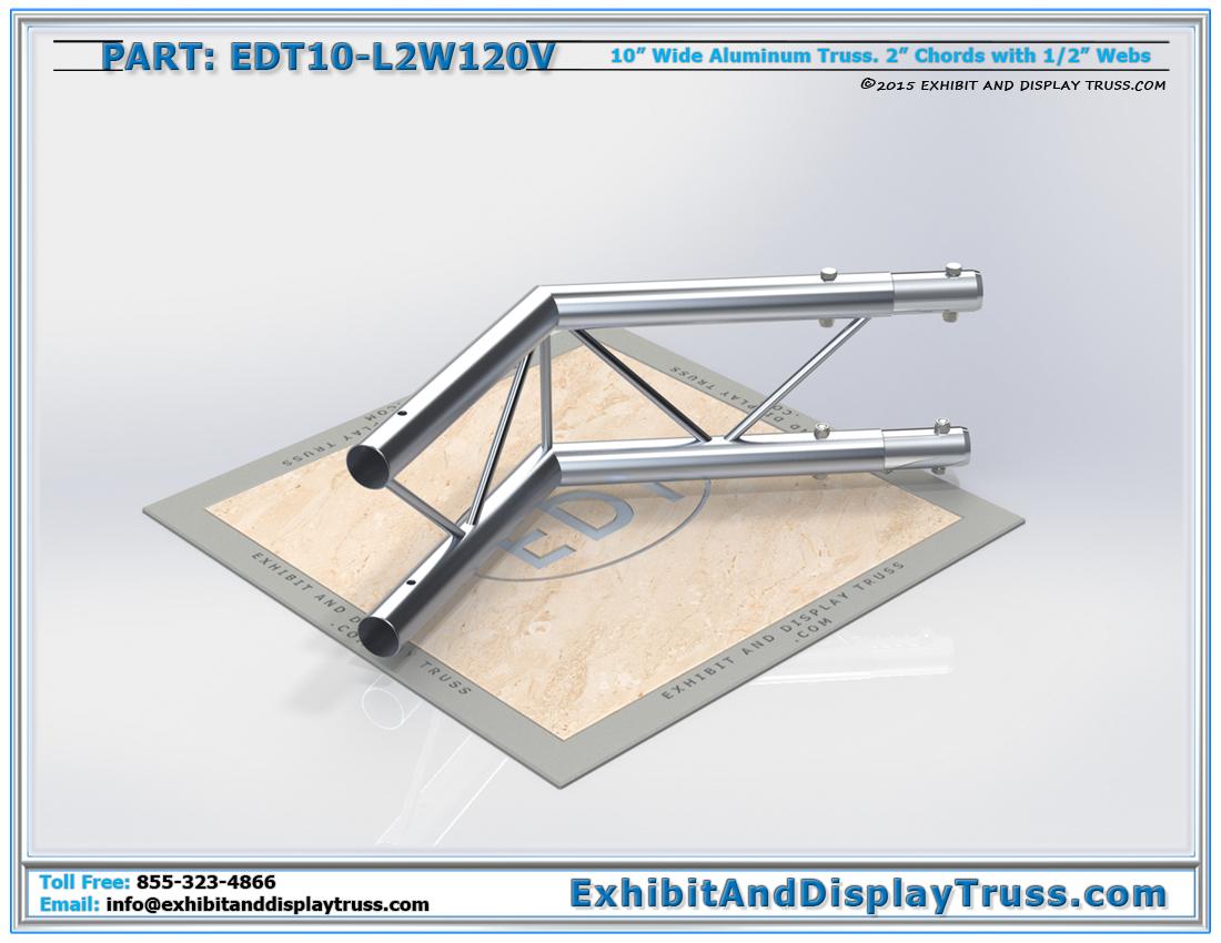 PART: EDT10-L2W120V / 10″ Wide 2 Way 120° Junction Vertical
