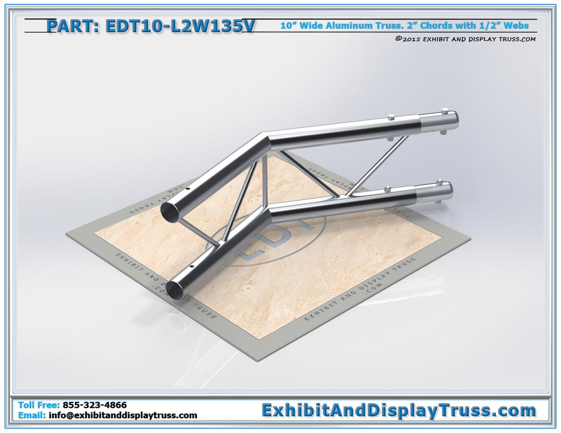 PART: EDT10-L2W135V / 10″ Wide 2 Way 135° Junction Vertical