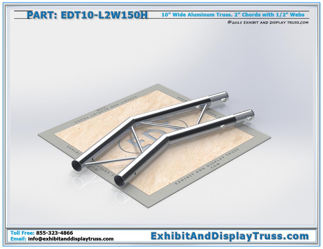PART: EDT10-L2W150H / 10″ Wide 2 Way 150° Junction Horizontal