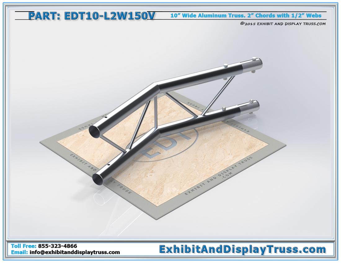 PART: EDT10-L2W150V / 10″ Wide 2 Way 150° Junction Vertical
