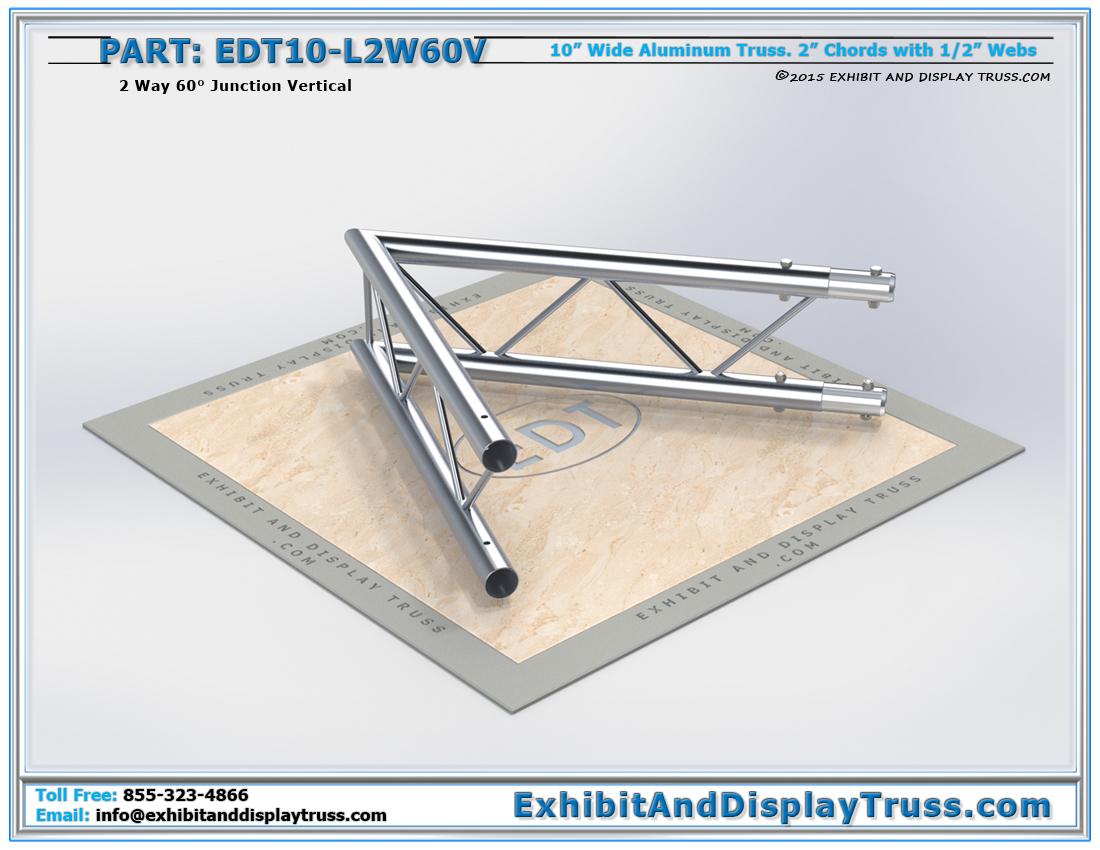 PART: EDT10-L2W60V / 10″ Wide 2 Way 60° Junction Vertical