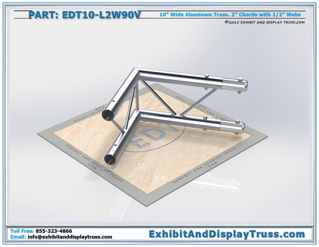 PART: EDT10-L2W90V / 10″ Wide 2 Way 90° Junction Vertical