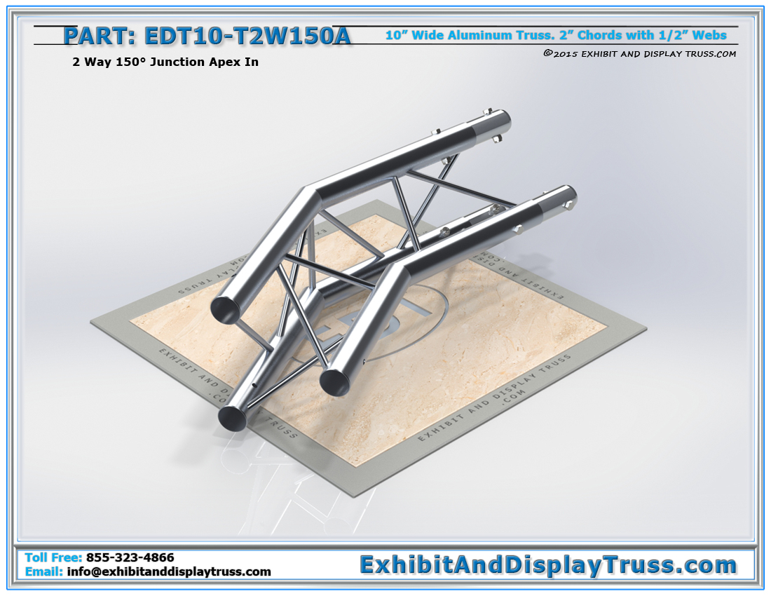 PART: EDT10-T2W150A / 10″ Wide 2 Way 150° Junction Apex In