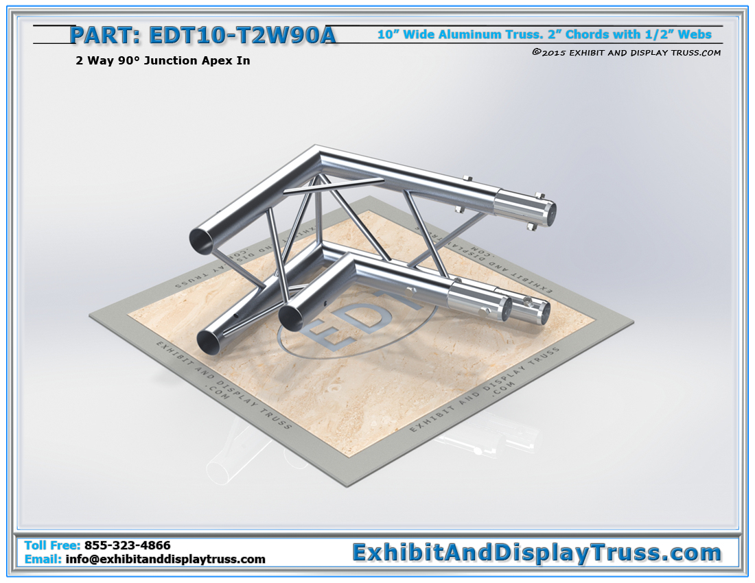 PART: EDT10-T2W90A / 10″ Wide 2 Way 90° Junction Apex In