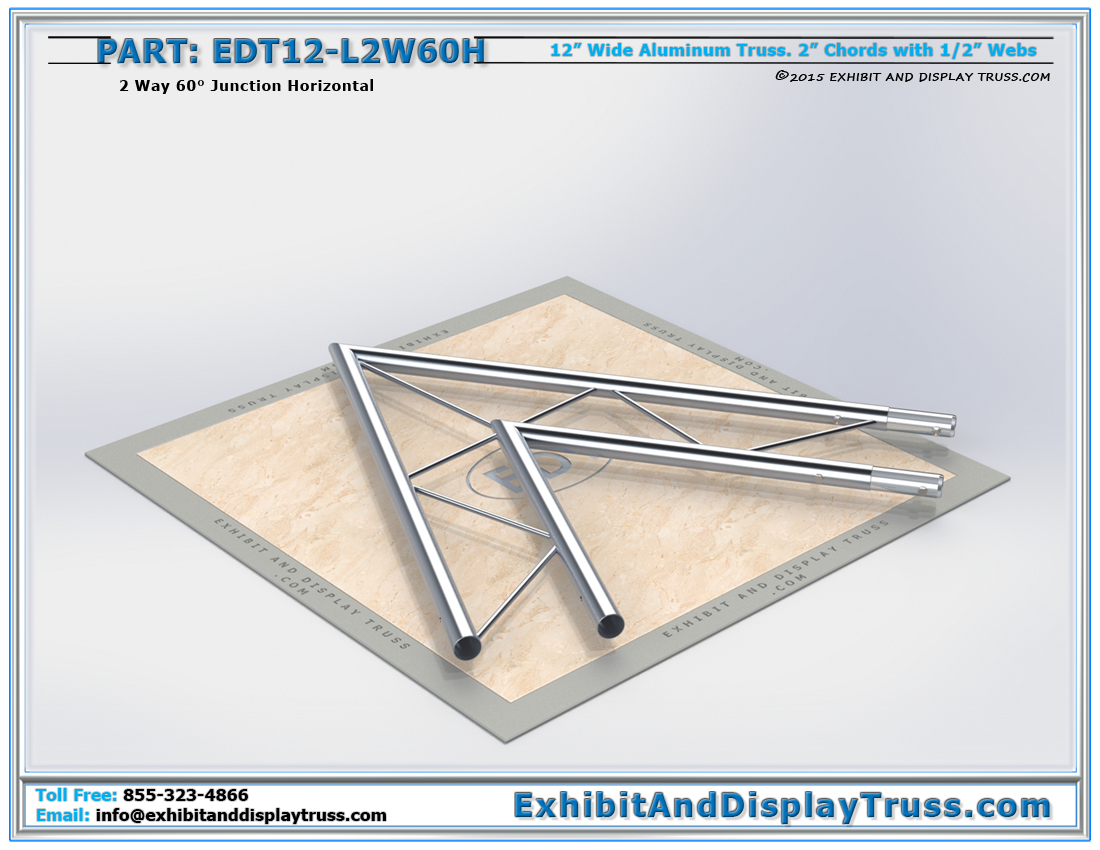 PART: EDT12-L2W60H / 12″ Wide 2 Way 60° Junction Horizontal