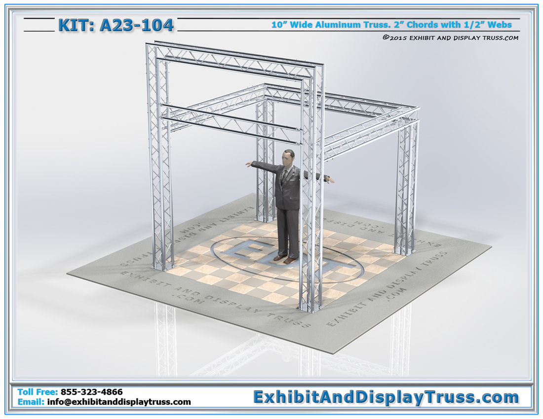 Kit: A23-104 / Standard Exhibit Booth Design with Large Banner Display Area
