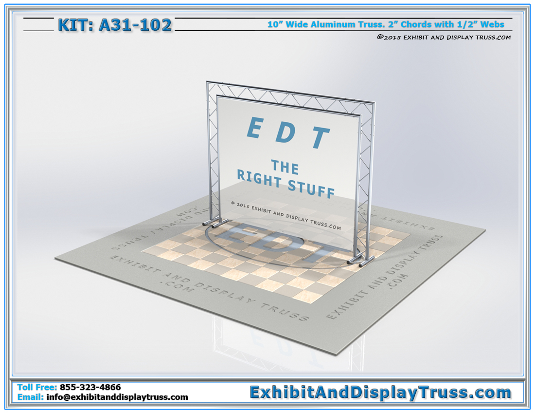 Kit: A31-102 / Trade Show Booth Banner Frame