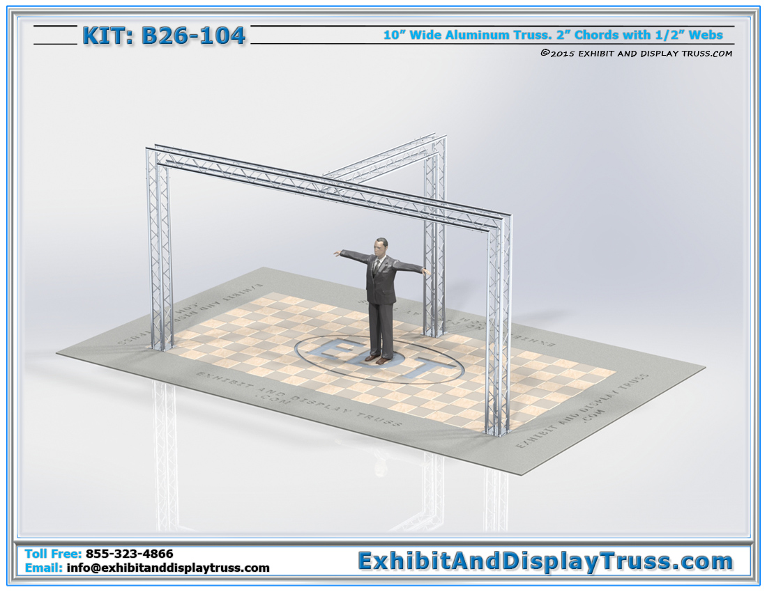 Kit: B26-104 / Convention Truss Kit for TV Stands and Lighting