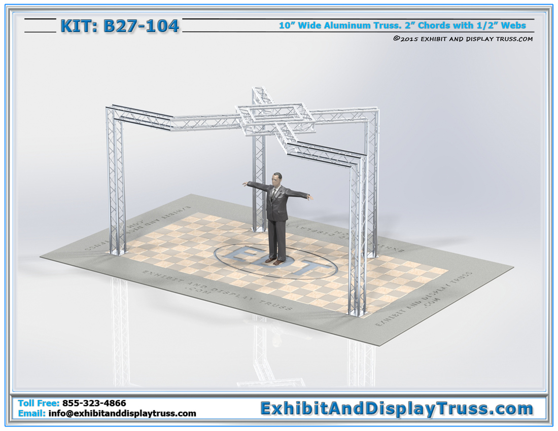 Kit: B27-104 / Trade Show Exhibit Displays for TV Monitors and Advertising