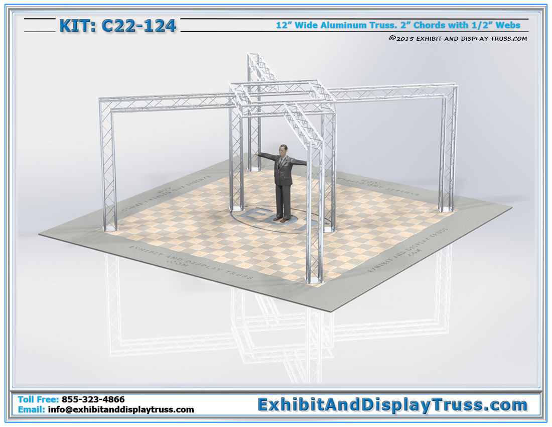 Kit: C22-124  / Modern Lighting Truss Display Kit