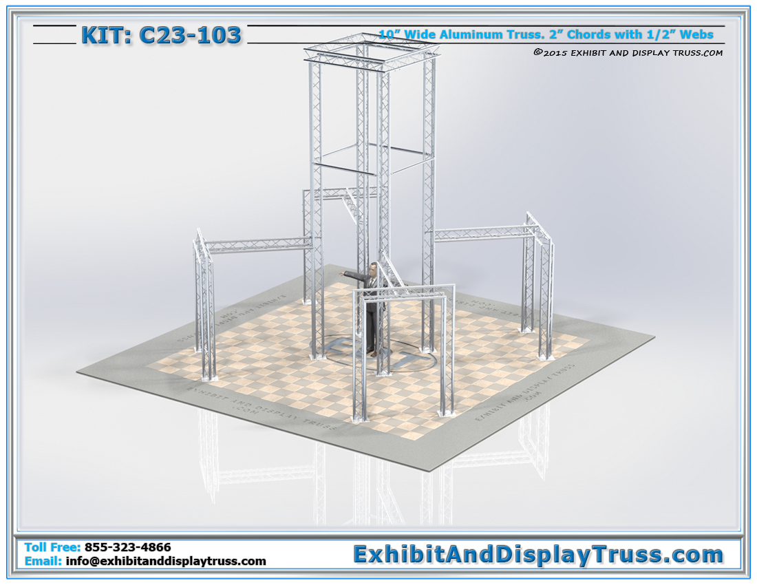 Kit: C23-103 / Truss Tower Structure seen from Anywhere in Convention Hall