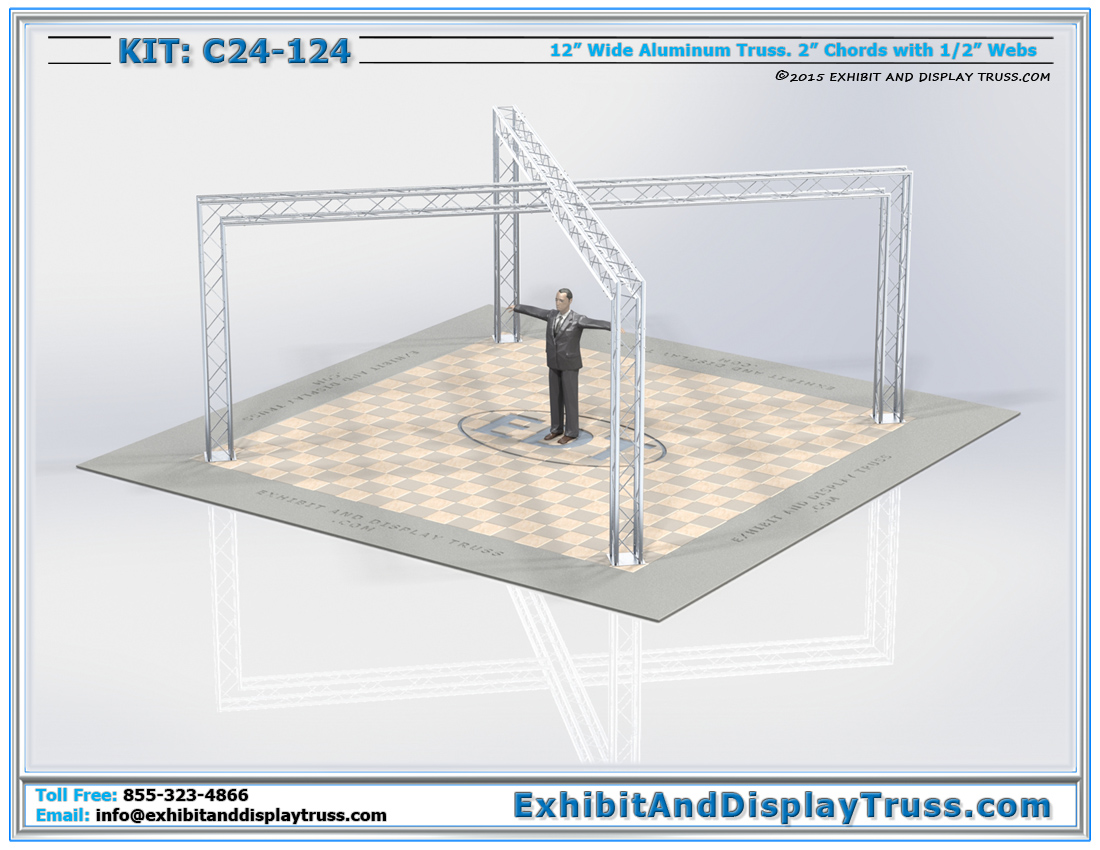 Kit: C24-124 / X-Shaped Tradeshow Convention Display Kit