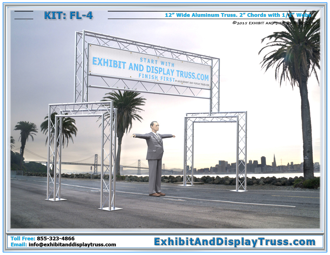 FL-4 Finish Line and Starting Line Kit / Truss Finish Line Structure With Banner Support