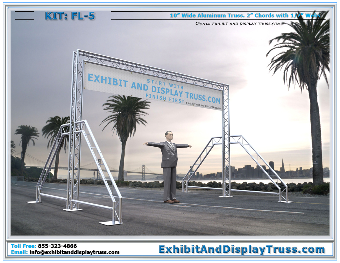 FL-5 Finish Line and Starting Line Kit / Small and Portable Arch Trussing Finish Line Kit