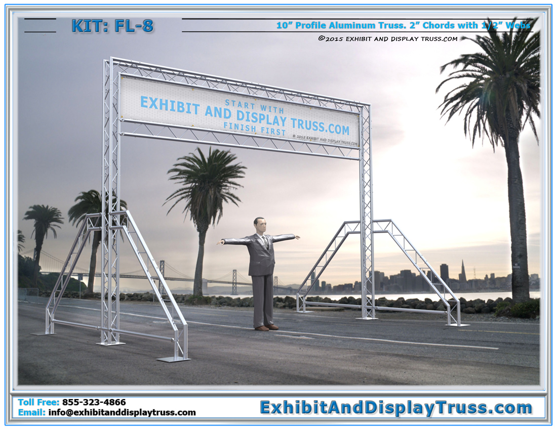 Finish Line Systems | Starting Line Systems. Archway and Entrance way Gantry Truss Structures