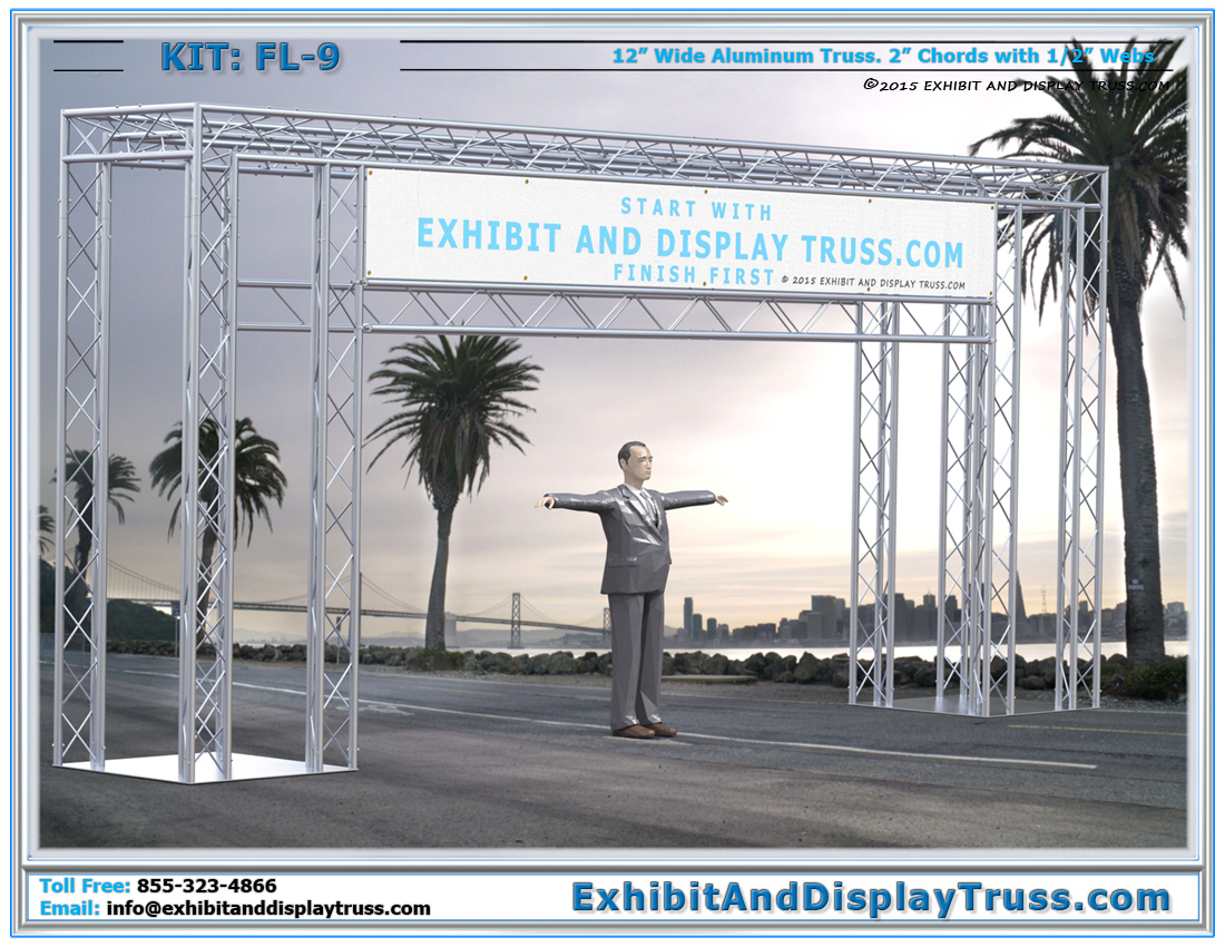 FL-9 Finish Line and Starting Line Kit / Corporate Banner Wrapped Finish Line System
