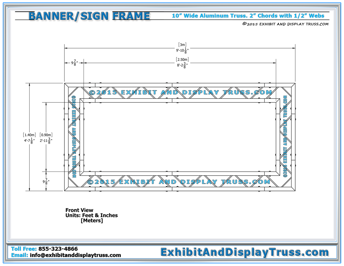 Banner Frames / Banner Frame Kit and Portable Banner Frames – Light ...