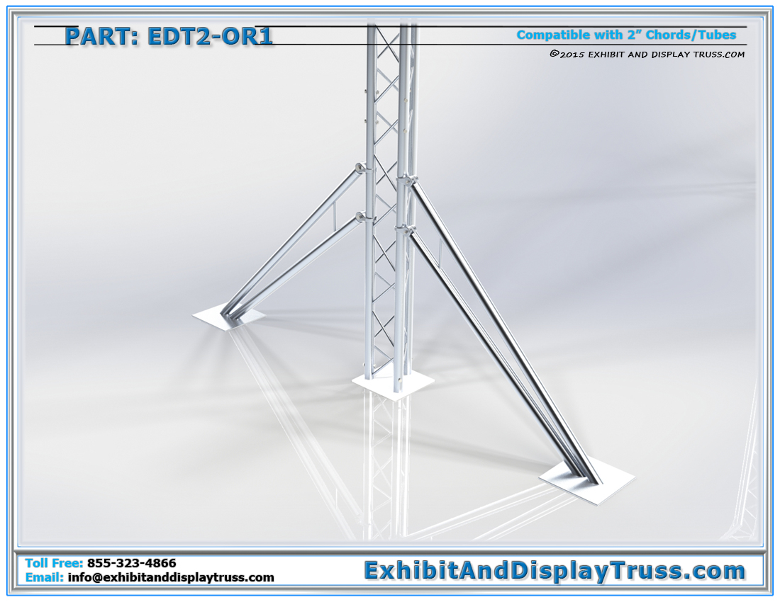 Part: EDT2-OR1 / Light Duty Outrigger Arm with Extender Hooks