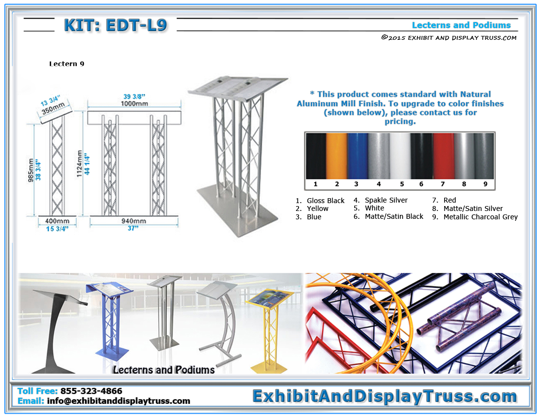 Kit: EDT-L9 / Double Aluminum Lectern 9