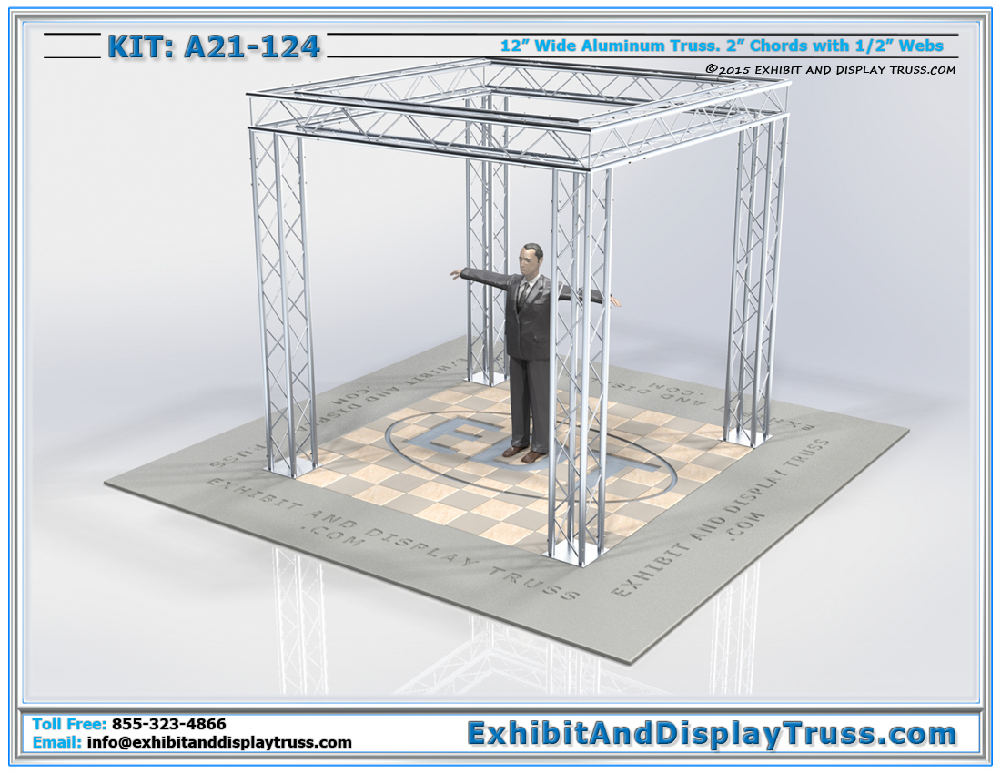Kit: A21-124 / Standard Perimeter Trade Show Booth with 12