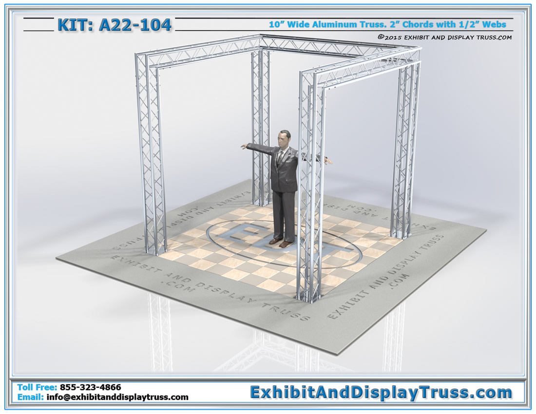 Kit: A22-104 / Durable and Lightweight Aluminum Truss Tradeshow Display