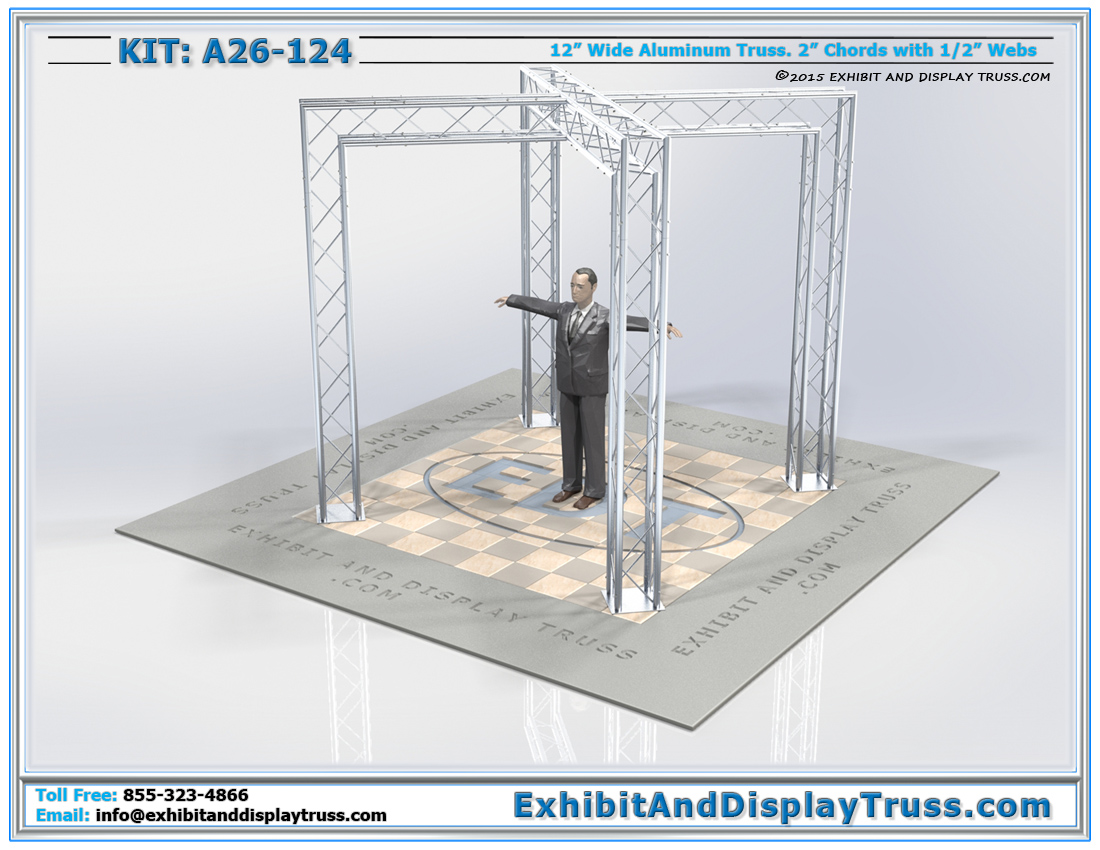 Kit: A26-124 / X-Shaped Trade Show Booth Design