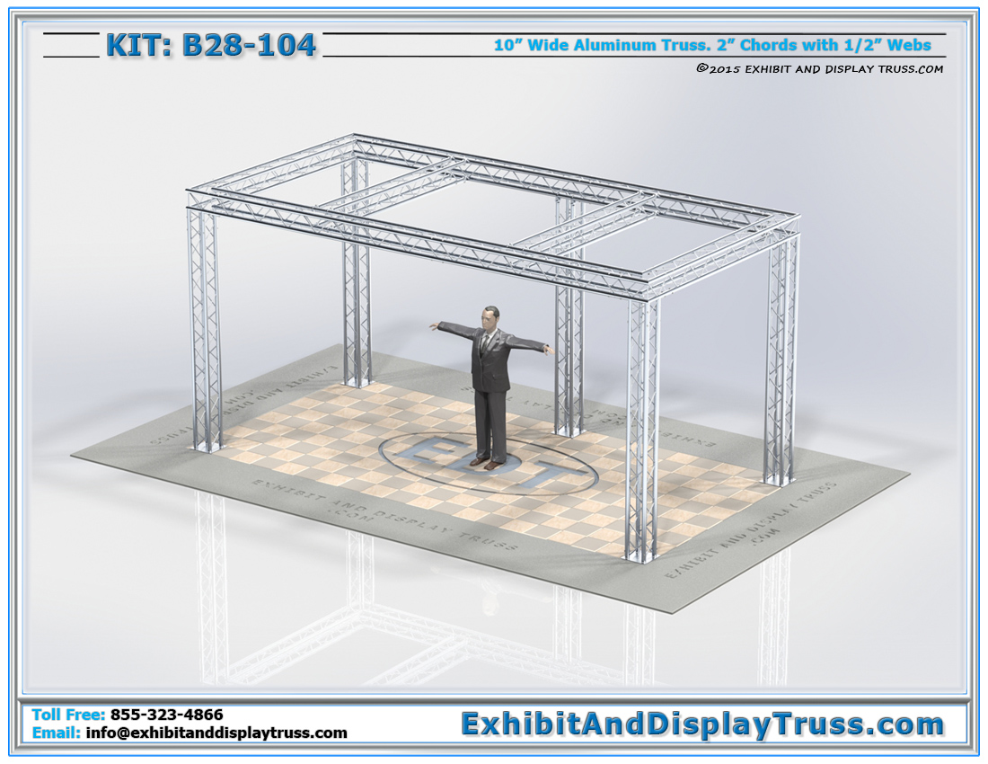 Kit: B28-104 / Durable Aluminum Truss Trade Show Display for Lighting and Banners