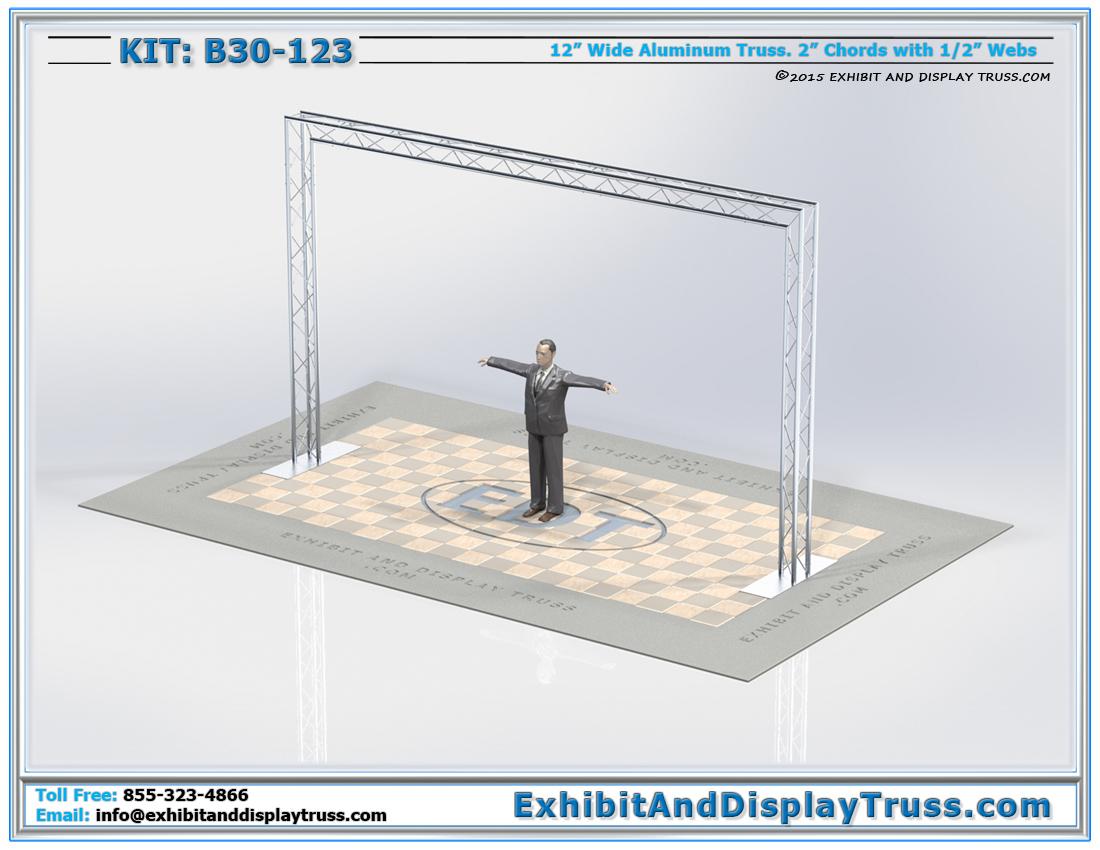 Kit: B30-123 / 12″ Wide Aluminum Triangle Truss Entranceway