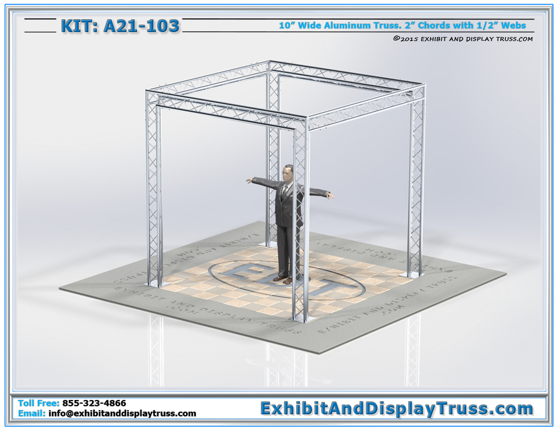 Kit: A21-103 / Standard and Cost-Effective Perimeter Truss Display