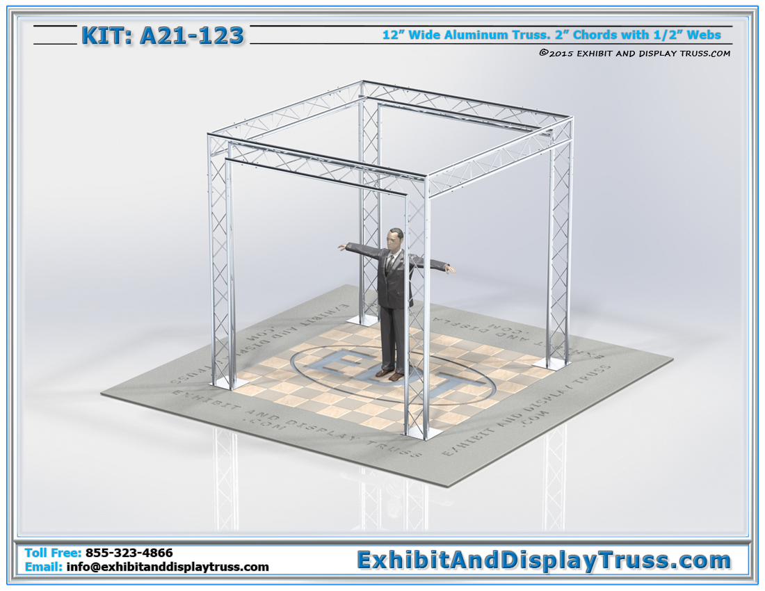 Kit: A21-123 / Durable Perimeter Aluminum Truss System