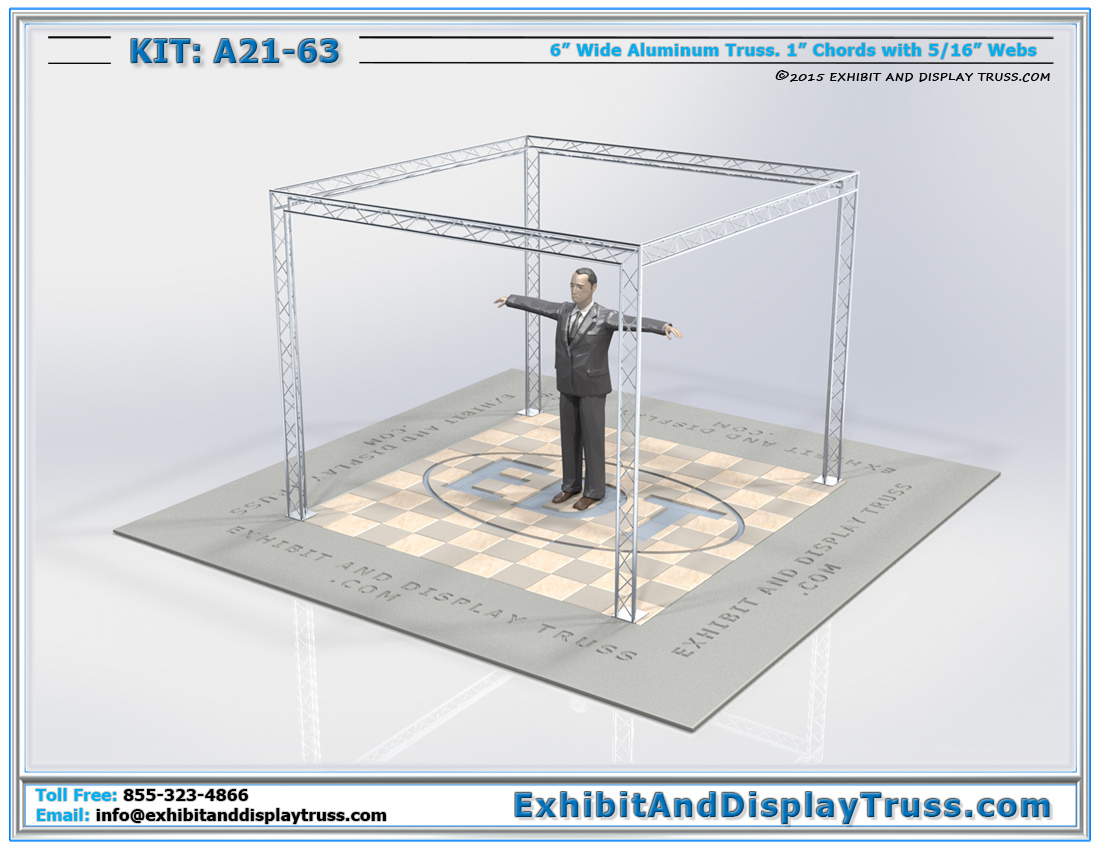 Kit: A21-63 / Cost Effective Mini Truss Kit for Trade Shows