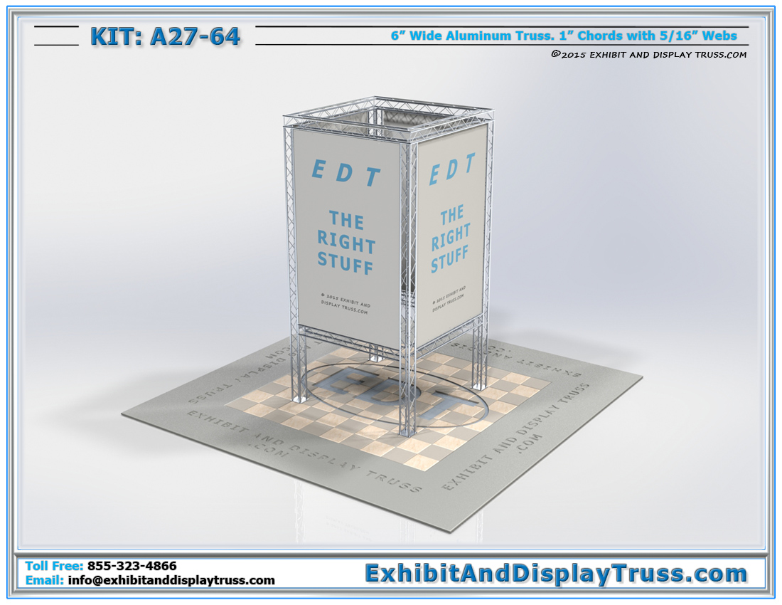 Kit: A27-64 / Portable Truss Media Tower for Company Promotion