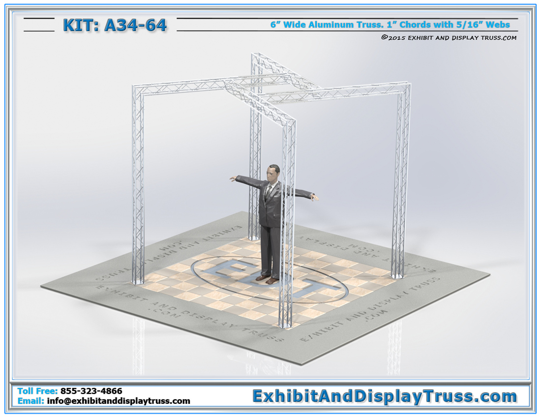 Kit: A34-64 / Unique Truss Kit for Hanging LED TVs, Banners, Lights