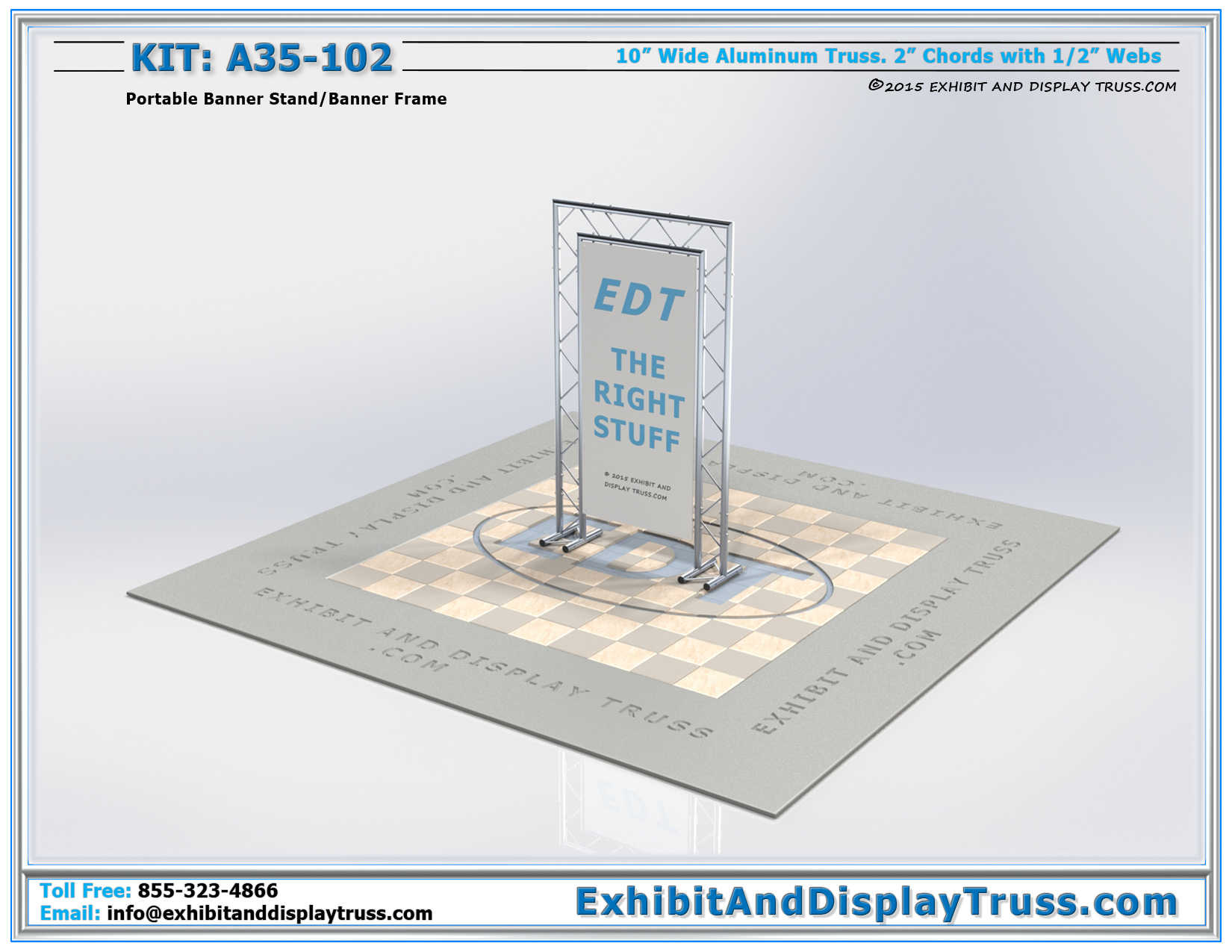 Kit: A35-102 / Flat Packing Portable Banner Stand