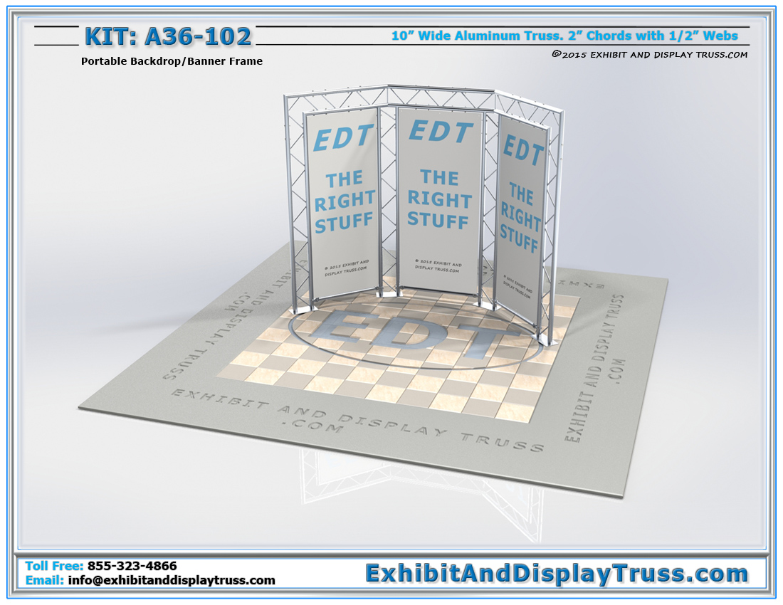 Kit: A36-102 / Flat Pack Trade Show Backdrop and Sign Wall