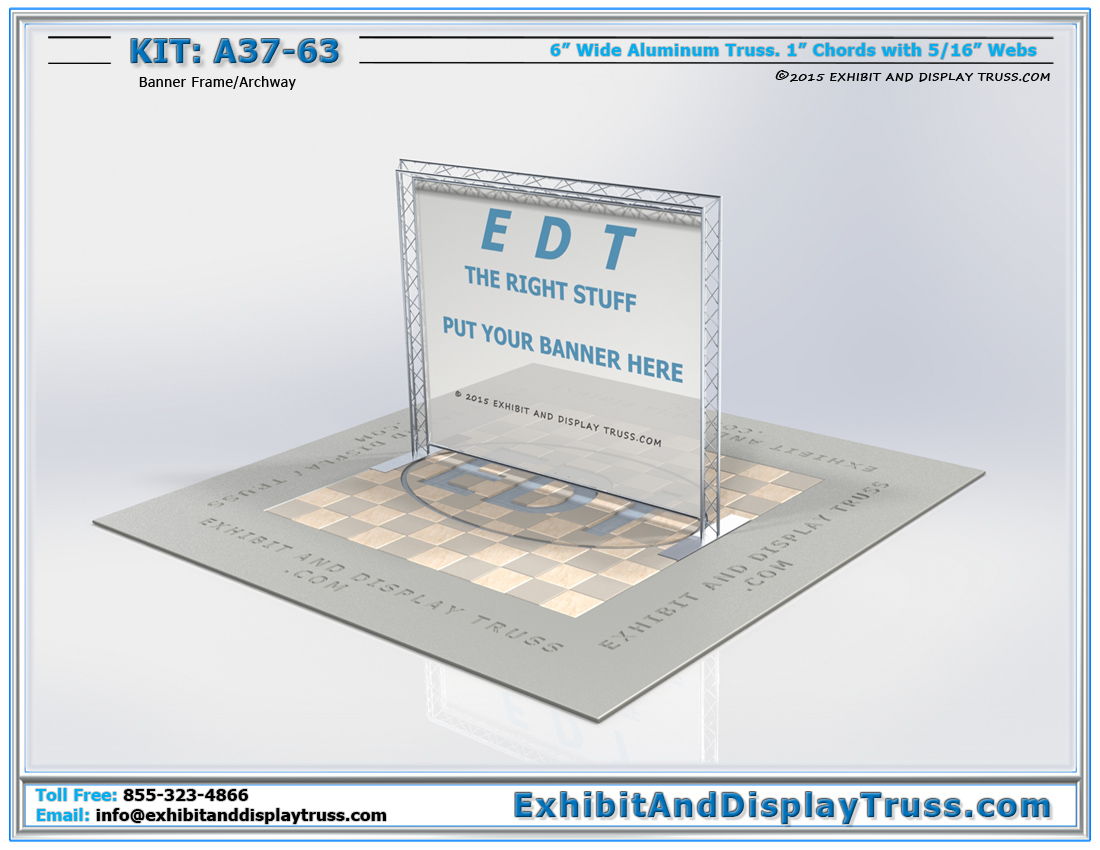 Kit: A37-63 / Portable Conference Banner Stand for Truss Display System