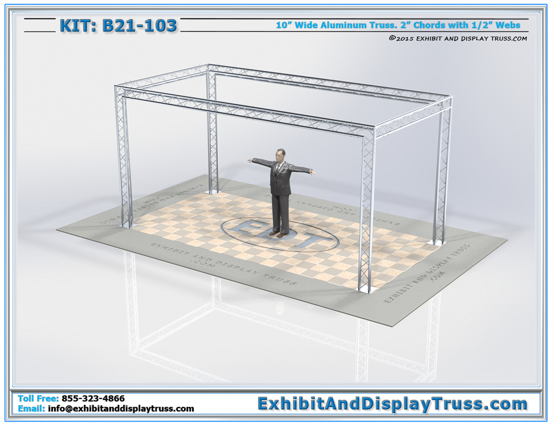 Exhibition Booth Standard Size : Kit b standard modular aluminum truss systems