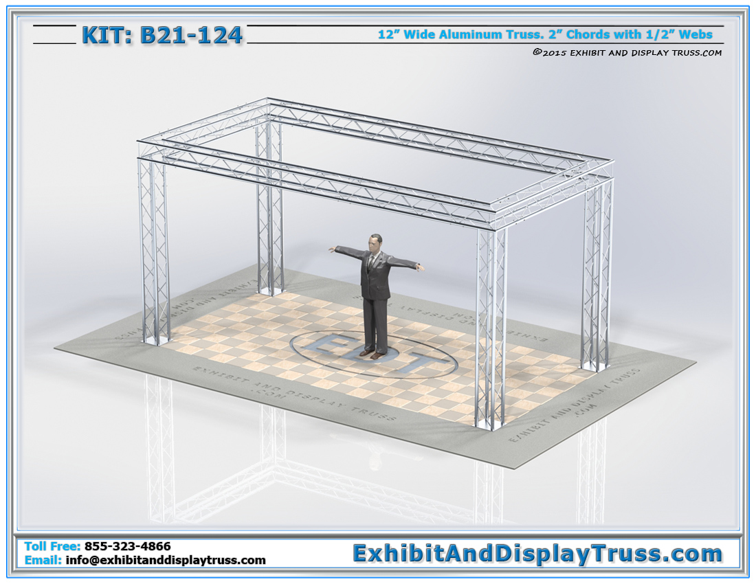 Kit: B21-124 / Modular and Durable Aluminum Truss System