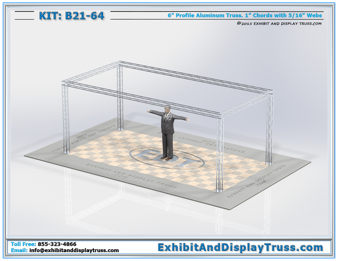 Kit: B21-64 / Portable and Lightweight Truss Display System