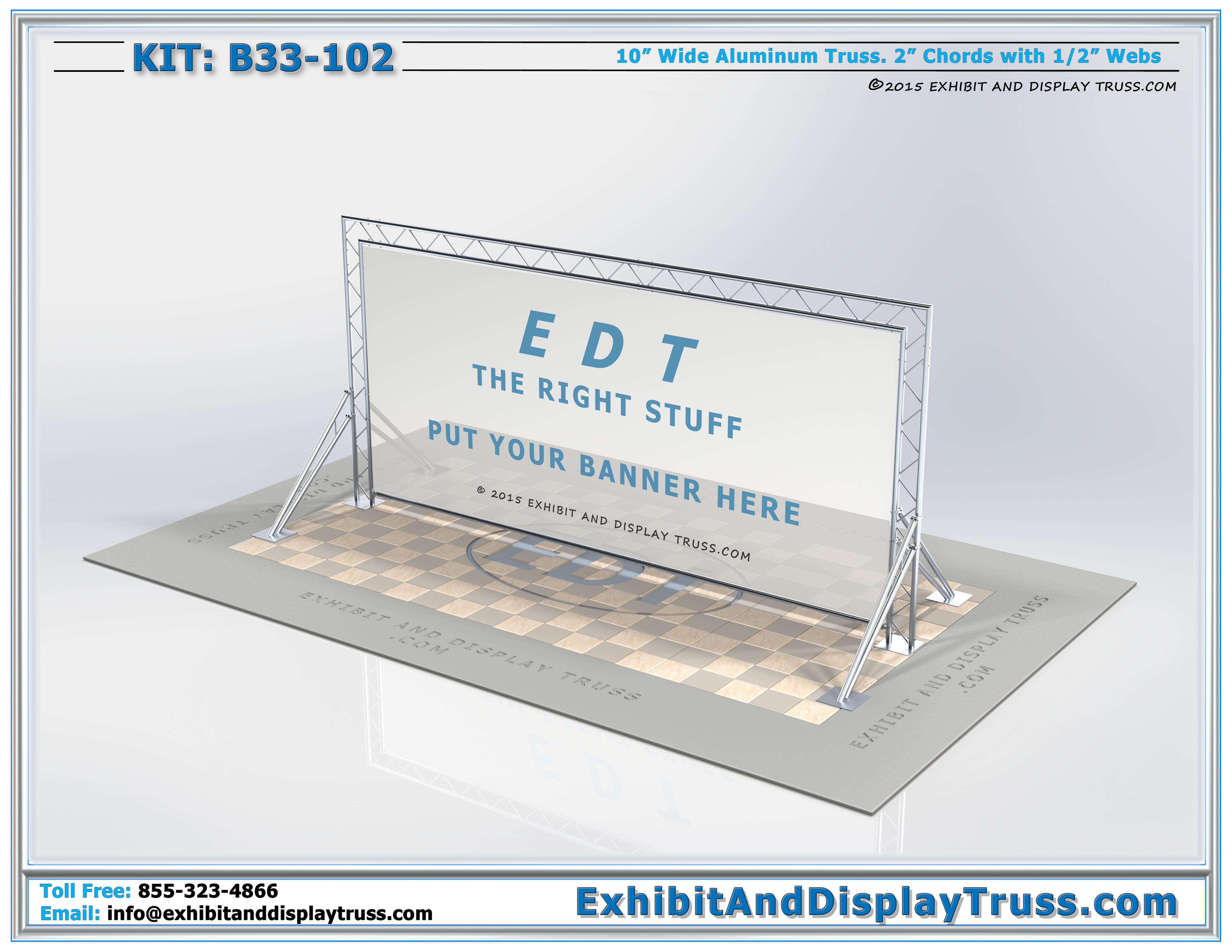10\' x 20\' Exhibit Display Kits: B33-102