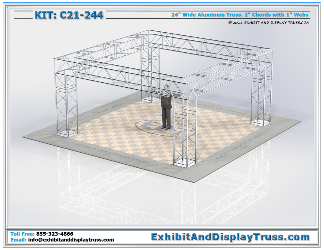 Kit: C21-244 / Heavy Duty Lighting Truss System and Trade Show Exhibit Display