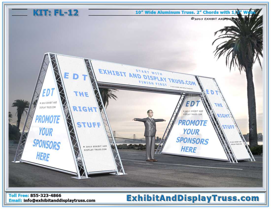 FL-12 Finish Line and Starting Line Kit / The Best Banner or Sign Covered Finish Line
