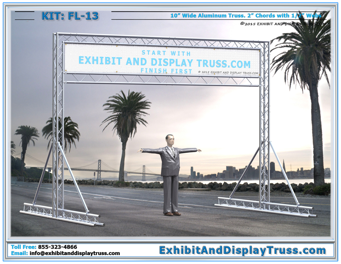 FL-13 Finish Line and Starting Line Kit / Cost-Effective, Durable Truss Start Line for Marathons and Triathlon Race Events