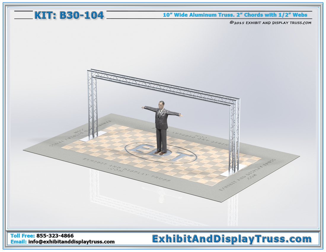 Kit: B30-104 / Aluminum Truss Arch and Entranceway for Trade Show Display Booths