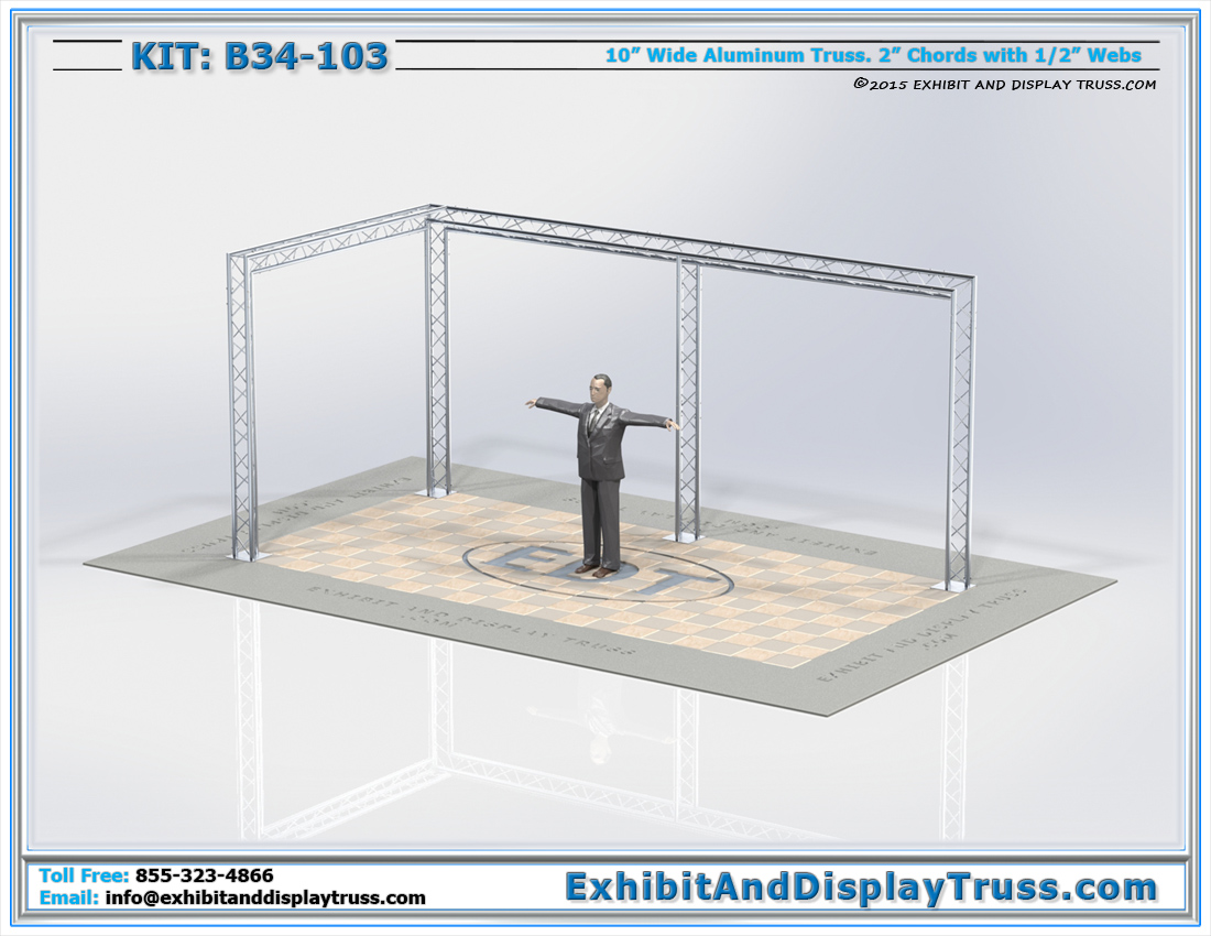 Kit: B34-103 / L-Shaped Truss Banner Display Rig