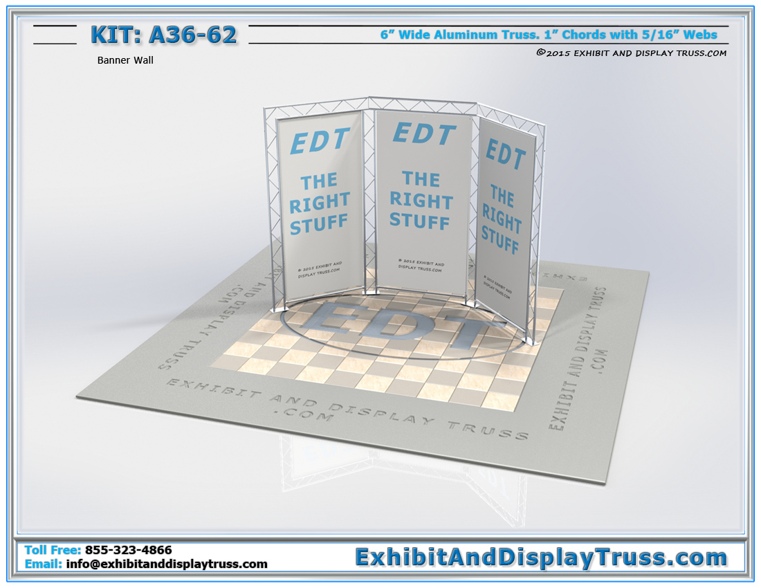 Kit: A36-62 / Flat Packing Truss Trade Show Booth Back Wall