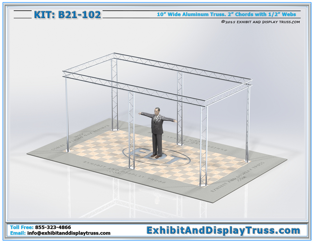 Kit: B21-102 / Portable Trade Show Systems that Flat Packs