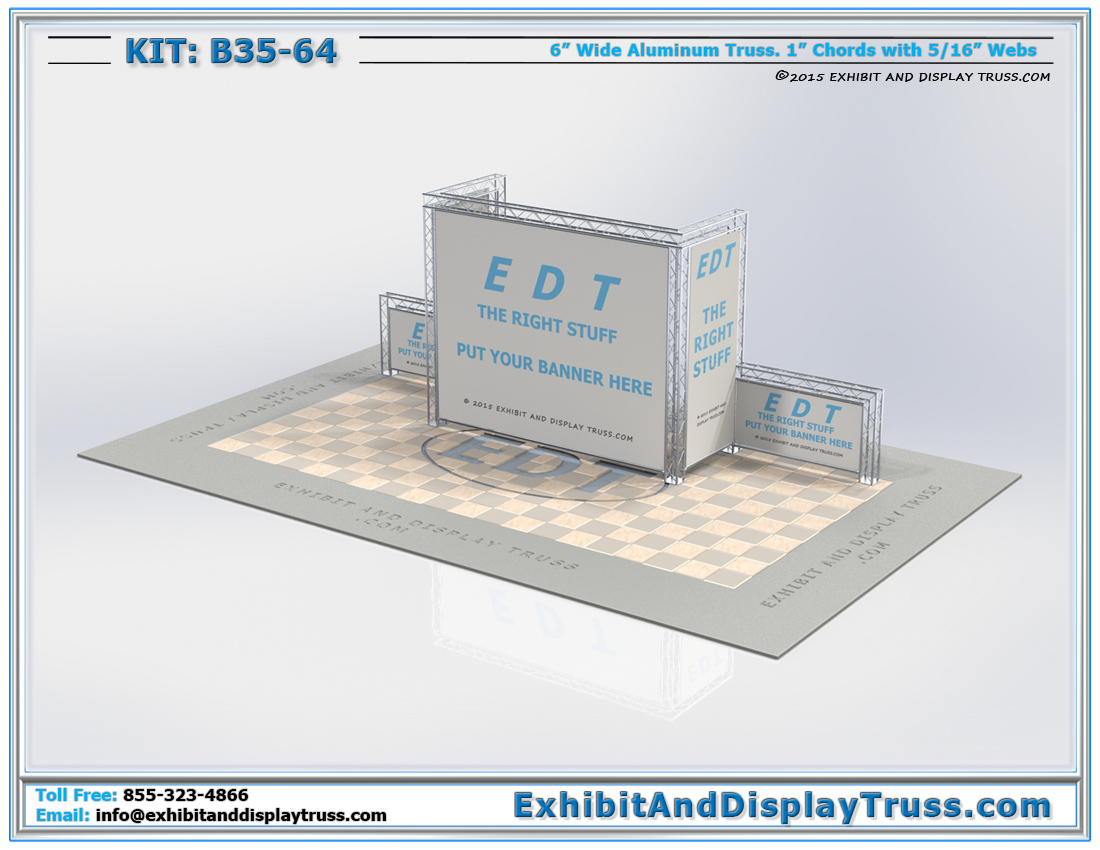 Kit: B35-64 / Aluminum Truss Peninsula Booth for Trade Shows