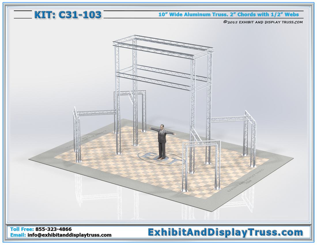 Kit: C31-103 / Truss Tower Lighting for Trade Show